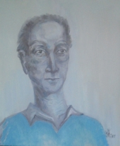 Man in a blue jumper