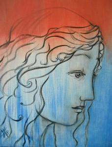 Marina Jijina,The Birth of Aphrodite 6, 2013 ,oil on canvas, 31 cm x 41 cm